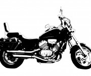 Coloriage Moto Honda couleur