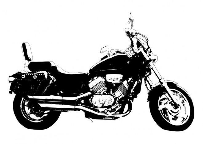 Coloriage et dessins gratuits Moto Honda couleur à imprimer
