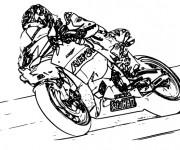 Coloriage Moto Honda de course