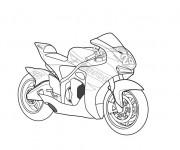 Coloriage et dessins gratuit Moto Honda stylisé à imprimer