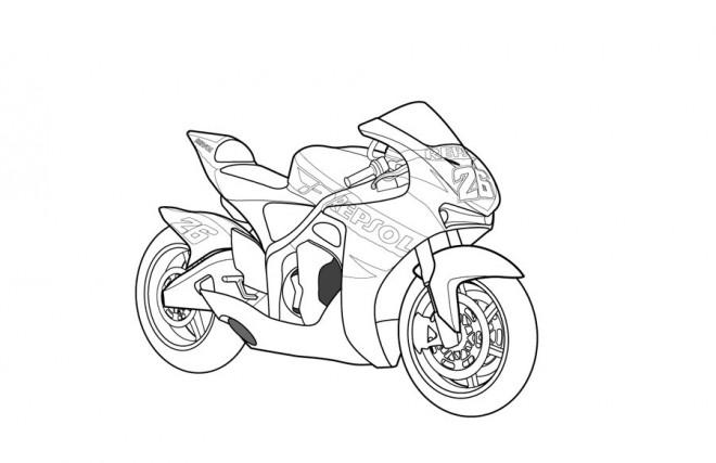 Coloriage et dessins gratuits Moto Honda stylisé à imprimer