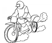 Coloriage Motorcycle de course