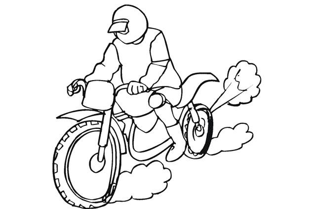 Coloriage et dessins gratuits Motorcycle de course à imprimer