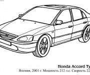 Coloriage Voiture Honda Accord Type R