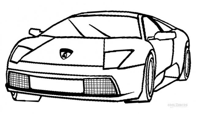 Coloriage et dessins gratuits Automobile Italien Lamborghini à imprimer