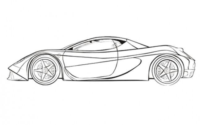 Coloriage et dessins gratuits Automobile Porsche à imprimer