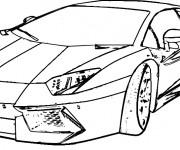 Coloriage Lamborghini 3