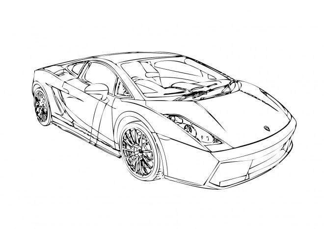 Coloriage et dessins gratuits Lamborghini à colorier à imprimer