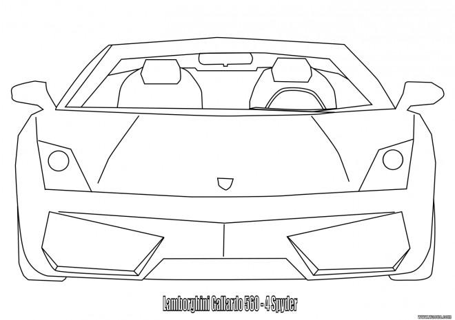Coloriage et dessins gratuits Lamborghini à découper à imprimer