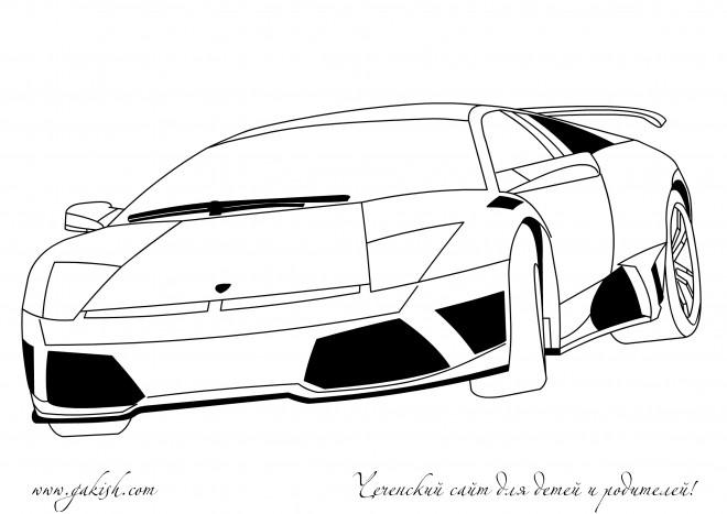 Coloriage et dessins gratuits Lamborghini à télécharger à imprimer
