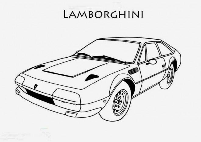 Coloriage et dessins gratuits Lamborghini ancien modèle à imprimer