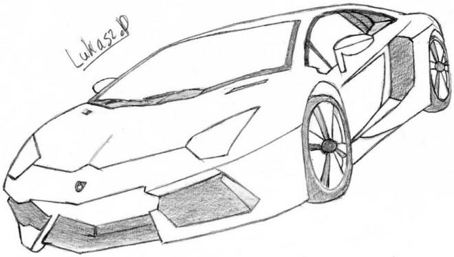 Coloriage Lamborghini Au Crayon Dessin Gratuit 224 Imprimer