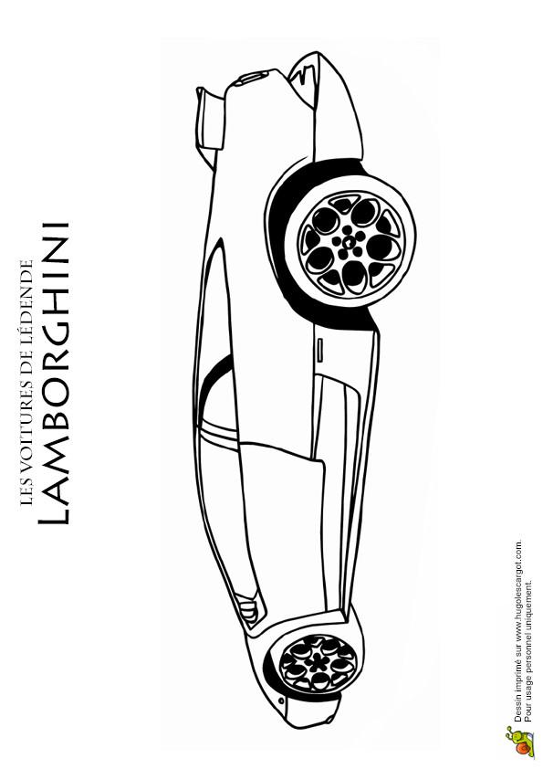 Coloriage et dessins gratuits Lamborghini avec son design superbe à imprimer