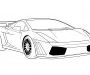 Coloriage et dessins gratuit Lamborghini Aventador à imprimer