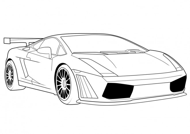 coloring pages car back view - photo#21