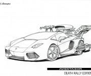 Coloriage Lamborghini Aventador Édition Rallye de la mort