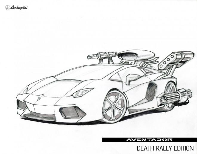 Coloriage et dessins gratuits Lamborghini Aventador Édition Rallye de la mort à imprimer