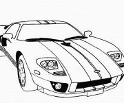 Coloriage et dessins gratuit Lamborghini classique à imprimer