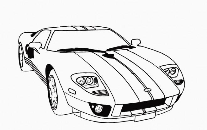 Coloriage et dessins gratuits Lamborghini classique à imprimer
