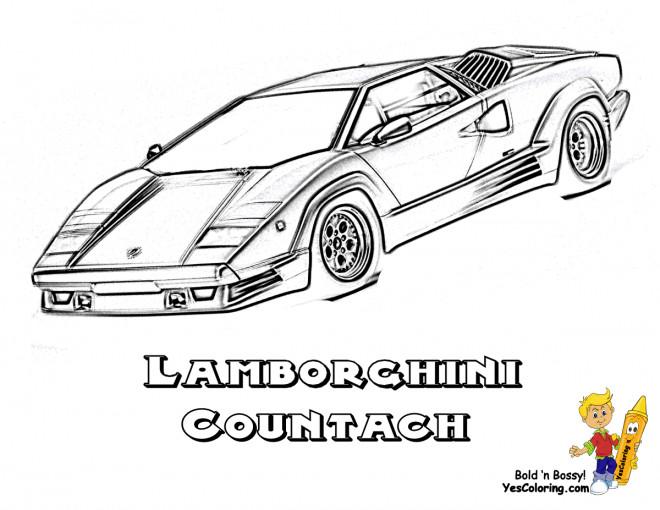 Coloriage et dessins gratuits Lamborghini Countach à imprimer