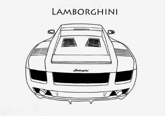 Coloriage et dessins gratuits Lamborghini coupé à imprimer
