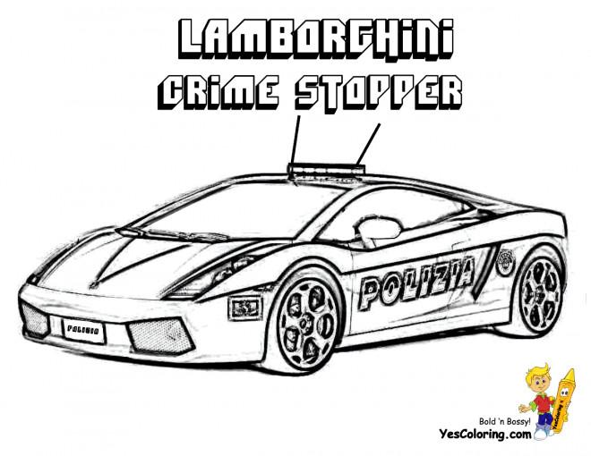 Coloriage et dessins gratuits Lamborghini Crime Stopper à imprimer