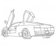 Coloriage et dessins gratuit Lamborghini Diabolo à imprimer