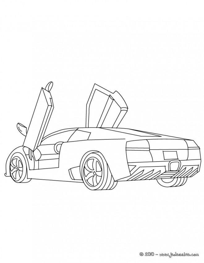 Coloriage et dessins gratuits Lamborghini Diabolo à imprimer