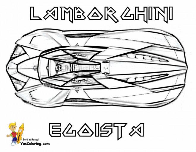 Coloriage et dessins gratuits Lamborghini Egoista à imprimer