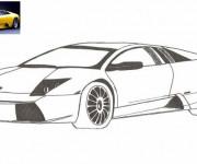 Coloriage Lamborghini en Jaune