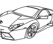 Coloriage et dessins gratuit Lamborghini en ligne à imprimer
