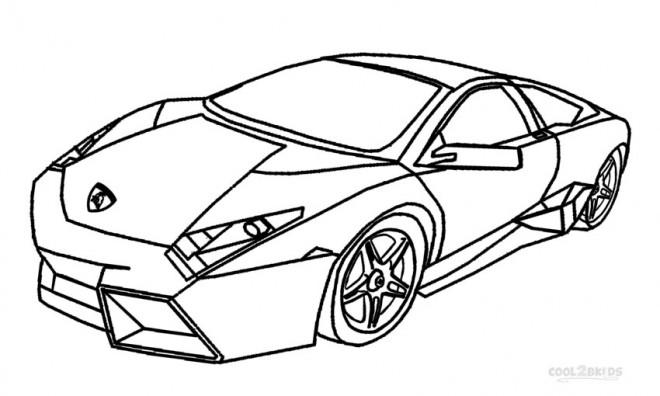 Coloriage et dessins gratuits Lamborghini en ligne à imprimer