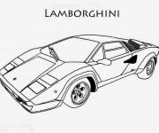 Coloriage et dessins gratuit Lamborghini facile à imprimer
