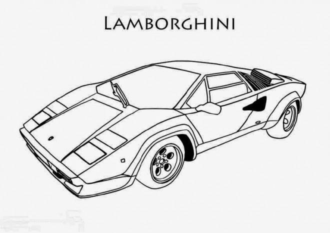 Coloriage Lamborghini facile dessin gratuit à imprimer