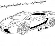 Coloriage et dessins gratuit Lamborghini Gallardo à imprimer