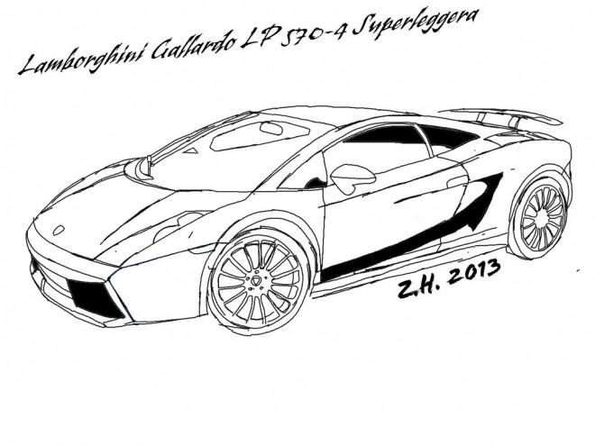 Coloriage et dessins gratuits Lamborghini Gallardo à imprimer