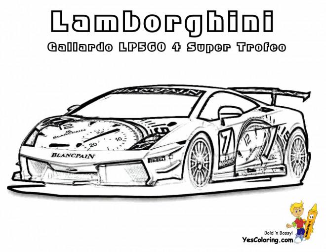 Coloriage Lamborghini Gallardo Lp560 Dessin Gratuit 224 Imprimer