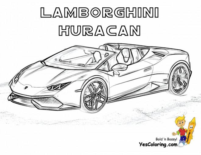 Coloriage et dessins gratuits Lamborghini Huracan décapotable à imprimer