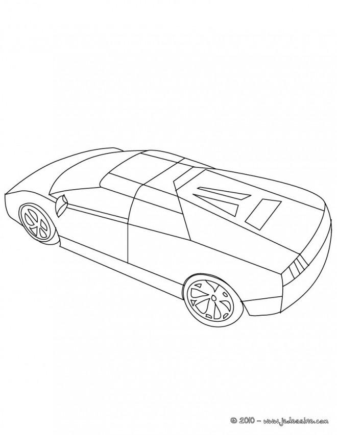 Coloriage et dessins gratuits Lamborghini Huracan en ligne à imprimer