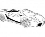 Coloriage et dessins gratuit Lamborghini italien à imprimer