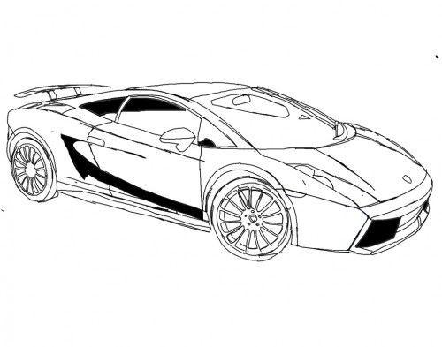Coloriage et dessins gratuits Lamborghini italien à imprimer