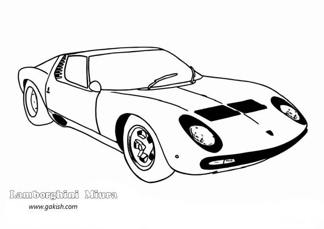 Coloriage et dessins gratuits Lamborghini Miura à imprimer