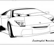 Coloriage et dessins gratuit Lamborghini Murciélago à imprimer