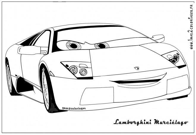 Coloriage et dessins gratuits Lamborghini Murciélago à imprimer