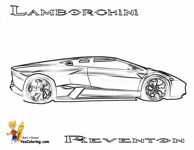 Coloriage et dessins gratuits Lamborghini Reventon à découper à imprimer