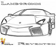 Coloriage et dessins gratuit Lamborghini Reventon vue de face à imprimer
