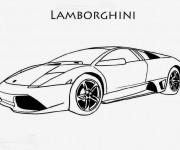 Coloriage et dessins gratuit Lamborghini Sesto Elemento à imprimer
