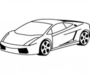 Coloriage Lamborghini Simple