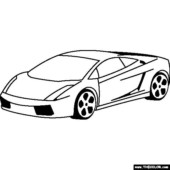 Coloriage Lamborghini Simple Dessin Gratuit  U00e0 Imprimer