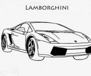 Coloriage et dessins gratuit Lamborghini stylisé à imprimer
